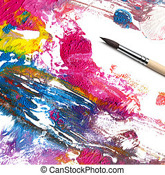 brush and abstract paint