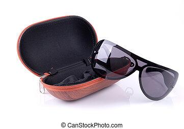 caso, óculos de sol