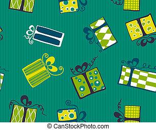Seamless gift box pattern