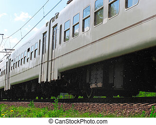 train - The image of close-up electric train car