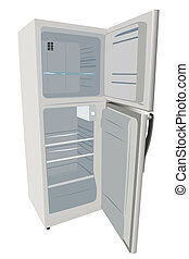 refrigerator - vector illustration of refrigerator under the...