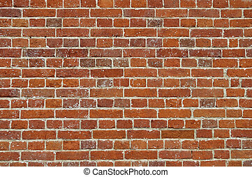 Rustic red brick wall background