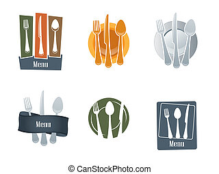 Restaurant logo with spoon and fork