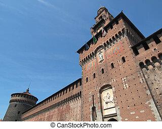 Castello Sforzesco, Milan - Castello Sforzesco Sforza Castle...