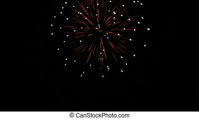 Independence day - Very beautiful and colorful fireworks in...