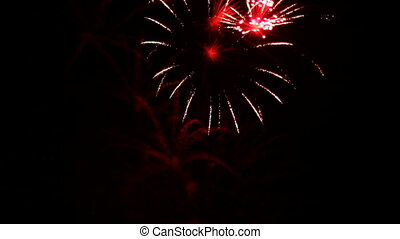 Beautiful sight - Very beautiful and colorful fireworks in...