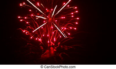 Spectacular fireworks - Very beautiful and colorful...