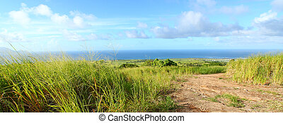 Saint Kitts Landscape - Panoramic view of the Caribbean...