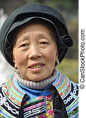 chinese Qiang ethnic woman - a chinese Qiang ethnic woman in...