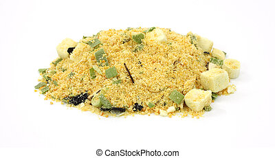 White miso soup mix - All of the ingredients for a single...