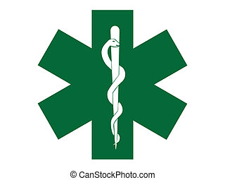 emergency medical symbol green cross - illustration