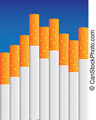 eps8 vector isolated cigarette - detailed realistic...