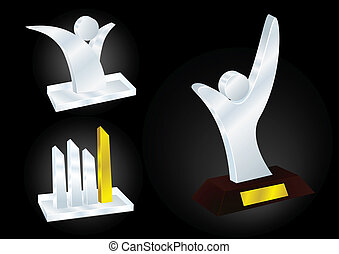 Different Award Designs - Vector Illustration