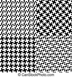 four seamless pixel pattern illustration