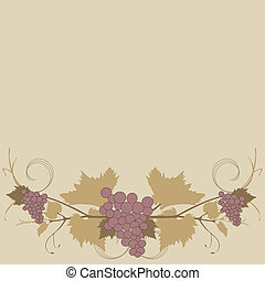 Vintage grape design. Vector illustration.