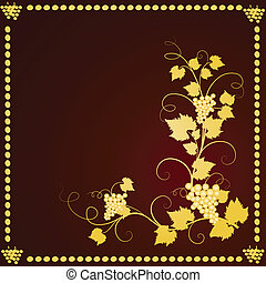 Grape background frame Vector illustration