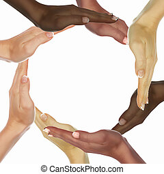 humano, Manos, símbolo, ethnical, diversidad