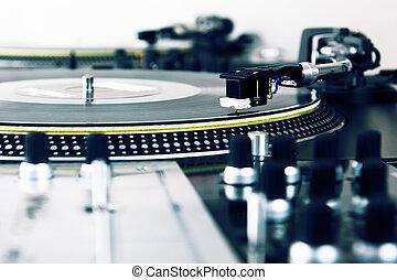 Piattaforma girevole, gioco, vinile, musica, disco