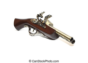 Old Duuble-Barrelled Pistol - Nice vintage double-barrelled...