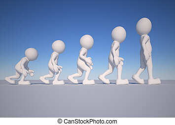 Evolution - 3d people icon suggestion evolution- This is a...