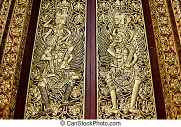 temple door in bali indonesia