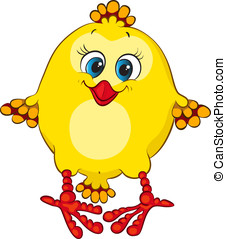 Cute chicken - Cute animal character for your design....