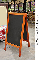 Restaurant Menu Easel - Restaurant Menu Chalk Board Easel