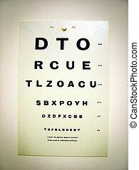prueba, ojo, gráfico