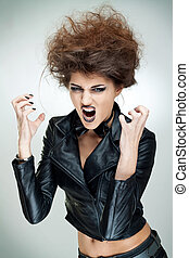 strong image of a very upset woman - strong image of a very...