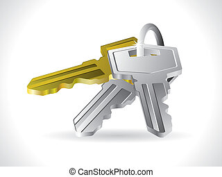 vector Key on a white background