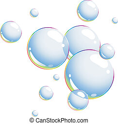 Bubbles over white. EPS 8, AI, JPEG