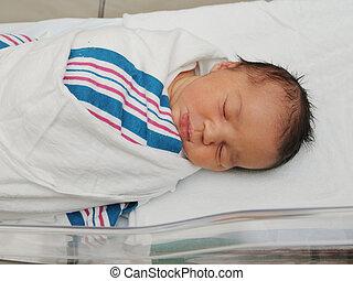 Healthy Newborn Infant Sleeping - Healthy Newborn infant...