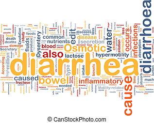 Diarrea, Diarrea, Plano de fondo, concepto