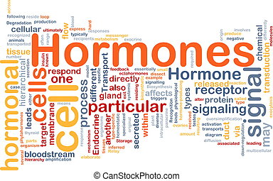 Hormones hormonal background concept - Background concept...
