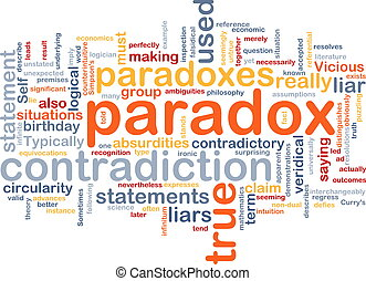 Paradox contradiction background concept - Background...
