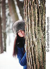 winter girl - winter portrait of woman