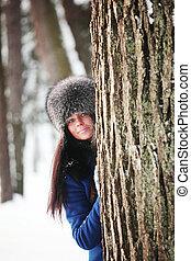 winter girl - winter portrait of woman