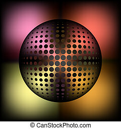 abstract halftone metallic sphere - for entertainement or...