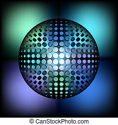 halftone sphere - abstract halftone sphere glass ball for...