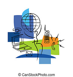 Mobile networking illustration