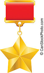 Gold star award - Hero of the Soviet Union gold star award...