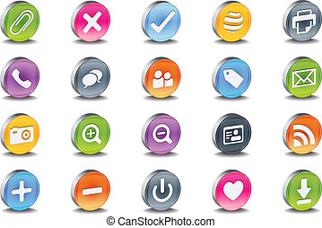 3d inset oval useful iconset