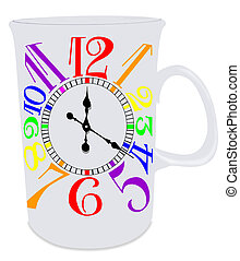 Gay Pride Mug Clock