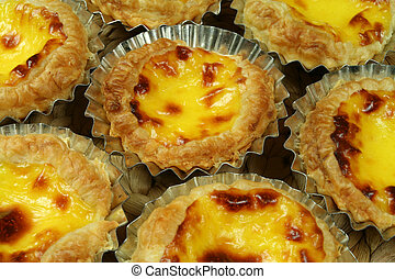 Portugese pastries - Traditional Lisbon egg tarts - pastries...