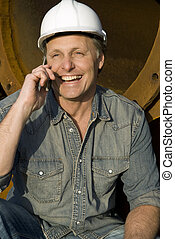 happy construction worker - A happy construction worker...