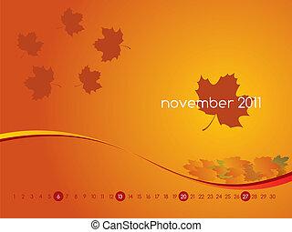 Calendar for November 2011