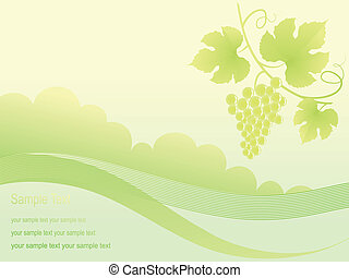 Beautiful golden grape background - Beautiful golden grape...