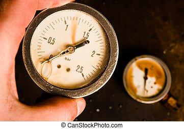 Gas meter in hand