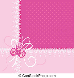 Greeting Card with Rose Flowers