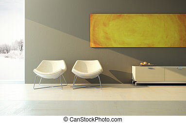 design of lounge room - modern design of lounge room
